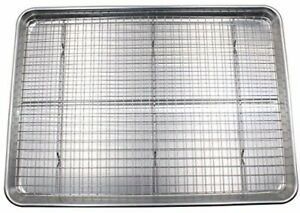 Cookie Sheet and Rack Set - Aluminum Half Pan Baking With Stainless Steel Oven