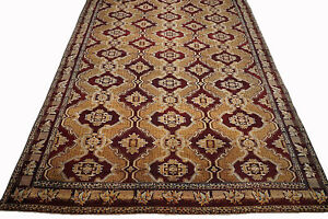 Antique 17X34 Indian Oversize Agra Rug Hand-Knotted Wool circa 1880 (16.7 x 33.7