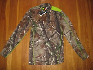 Under Armour Mock Compression UA SHIRT Realtree AP Infrared Camo ColdGear hunt M