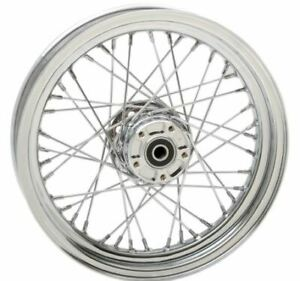 Drag Specialties Stock Replacement 40-Spoked Front Wheel 16X3 (0203-0529)