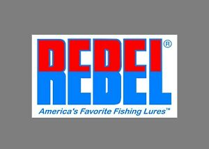 Rebel decals stickers bass boat tournament sponsor fishing baits lures