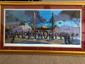 Disney's California Adventure....numbered and signed Lithograph