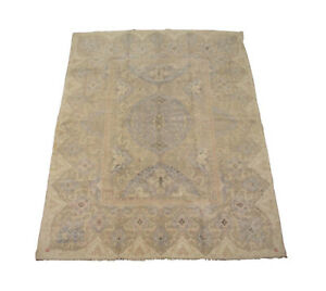 Antique 9X12 Cotton Indian Agra 1920s Hand-Knotted Oriental Carpet (8.10 x 11.8)