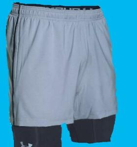 Under Armour #1271948 Men's Mirage 2-in-1 Training Shorts Grey M L XL NWT