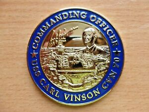 US Army US Navy Aircraft Carrier USS Carl Vinson CVN70 Commanding Challenge Coin