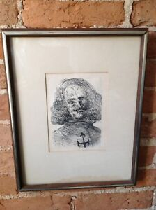 Salvador Dali etching Velazquez Spanish Immortals series c1965 framed w COA $399.00