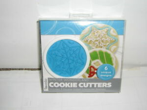 TOVOLO WINTER WONDERLAND COOKIE CUTTERS SET OF 6. NEW
