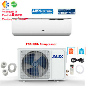12000 BTU Ductless MINI Split Air Conditioner with Heat Pump 115V 17 SEER White