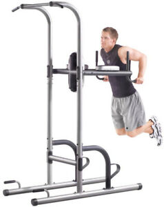 Dip Station Golds Gym XR 10.9 Power Tower with Push Up Pull Up