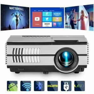 HD Bluetooth Android WiFi Projector Home Theater Miracast Airplay Apps Online TV