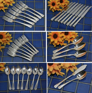 Oneida Community Par Silverplate CLARION 1931 Knives Forks Serving FREE SHIP