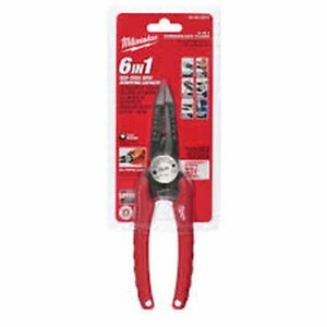 NEW MILWAUKEE 48 22 3079 6 IN 1 ELECTRICAL COMBINATION PLIERS STRIPPER CUTTERS $20.95