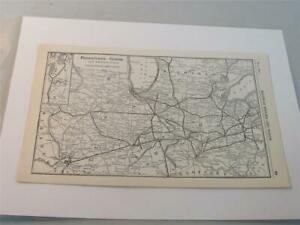 Original Map of the Pennsylvania System w Connections Western Section 1923 $19.87