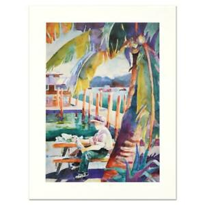 Sissi Janku quot;Dockside Catchquot; Limited Edition Lithograph Signed $90.00