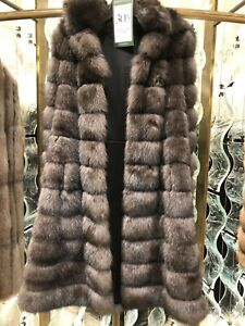 Dennis Basso Sable Fur Coat With Cashmere Lining