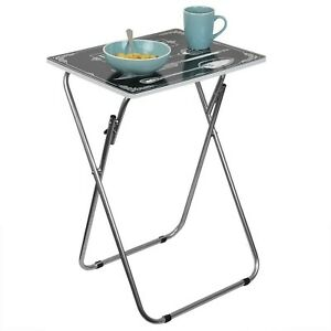 Home Basics Multi-Purpose Folding TV Tray Table (Bon Apettit)