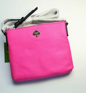 Kate Spade New York Leroy Street Tenley Cross-body Bag Leather Snapdragon Pink