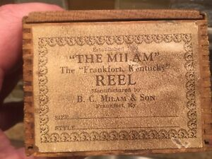 Rare B.C MILAN FRANKFORT KENTUCKY BAIT CASTER WOOD LABELED BOX . NO REEL !