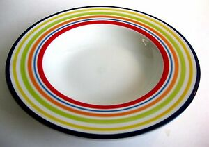 PRE-OWNED CERTIFIED INTERNATIONAL W/ MULTI-COLOR RING BAND PASTA BOWL, 11 INCHES