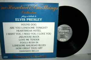 101 STRINGS ORCHESTRA play a tribute to Elvis Presley LP 1977 Alshire VG Plus