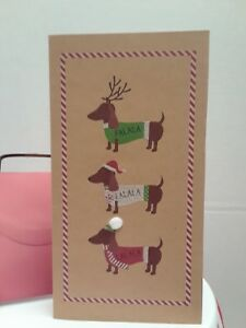 The Gift Wrap Company 7 Ct Boxed Christmas Holiday Cards Dogs $11.00