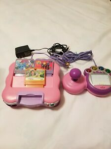 Vtech Vsmile TV learning system console and 3 Games