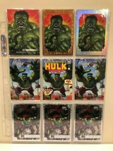2016 Marvel Masterpieces Rainbow HULK Set 9-Card Bronze Red Foil Kaleidoscope+ *