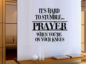 Its Hard To Stumble... Vinyl Wall Decal Sticker Home Decor Family
