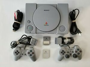 Sony Playstation 1 PS1 Console AUTHENTIC Controllers TESTED GUARANTEED