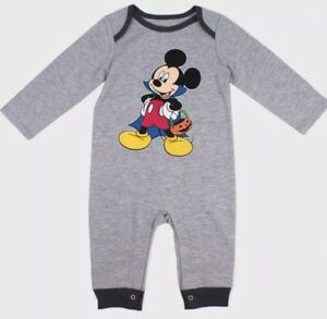 NWT BABY BOY MICKEY MOUSE HALLOWEEN ONE PIECE ROMPER OUTFIT SIZE 6 9 MONTHS