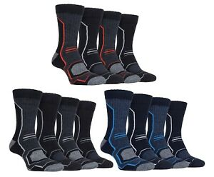 Storm Bloc 4 Pack Mens Anti Blister Padded Walking Boot Socks with Arch Support GBP 11.99