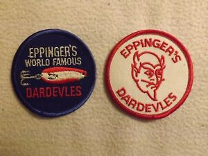Lot of 2 Eppinger's World Famous Dardevles Spoons Patch Excellent
