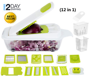 Vegetable Slicer Cutter Grater Onion Dicer Tomato Salad Kitchen Potato Chopper