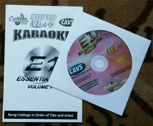 CHARTBUSTER SUPER CD+G ESSENTIALS KARAOKE SCDG E1450 SONGS CAVS COUNTRYOLDIES