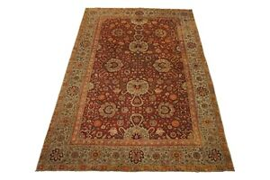 11X16 Antique Indian Agra Area Rug 1890's Hand-Knotted Wool Carpet (11.3 x 16.1)