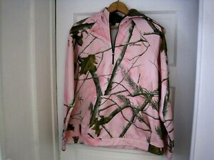 Women#x27;s Gander Mountain Guide Series Pink RealTree Camouflage Hoodie Size M