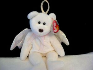 Halo Beanie Baby 1998 Retired with a rare Brown NoseBrand New in TY Plastic Box