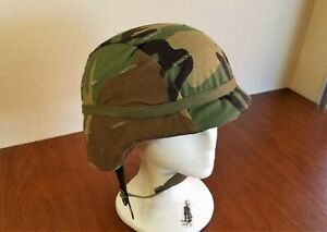 PASGT Unicor Military Kevlar Army Helmet M-6 w Woodland Camo EX Condition