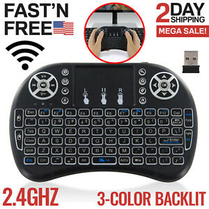 Mini Wireless Keyboard Portable Mouse Touchpad Android Smart TV Box Desktop PC