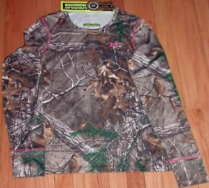 UNDER ARMOUR HUNTING SCENT CONTROL TOP SHIRT EVO CAMO REALTREE XTRA WOMEN' LARGE