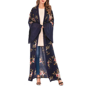 1PC Women Lady Spring Trumpet Sleeve Fashion Waistband Soft One Piece Maxi Dress