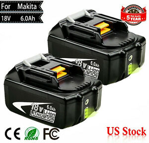 NEW 18V 6.0Ah REPLACE BL1860B LXT BATTERY LITHIUM ION FOR Makita BL1830B BL1850B