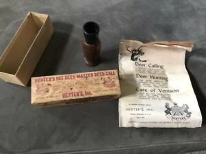 Herter's 903 World Famous Deer Master Deer Call Box & Manual Vintage 1966