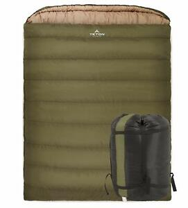 Sleeping Bag Cold Weather Camping Gear TETON Sports Mammoth Family Camp Bedding