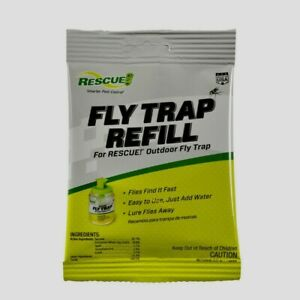 Rescue FLY TRAP ATTRACTANT Refill Bait Outdoor Drowns Insects Non Toxic FTA DB18