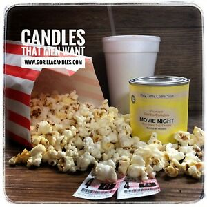 Buttered Popcorn Scented Man Candle
