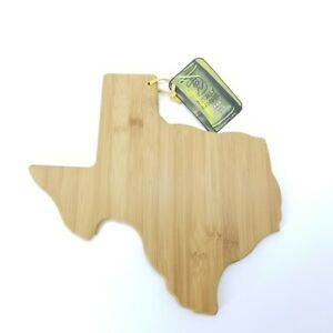 """Totally Bamboo State Cutting Serving """"TEXAS"""" 100% Organic Bamboo Board Gift"""