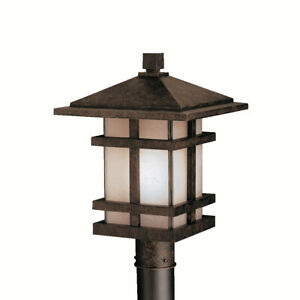 Kichler Lighting 9529AGZ Cross Creek Post Light or Accessories Aged Bronze