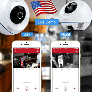 Wireless Smart Remote Pan Camera Home Outdoor 1.3MP Wi-Fi IP Security Camera USA