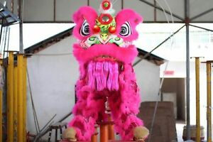 Cute High Quality  Lion Dance Costume Natural Wool Southern Lion For Two Adult